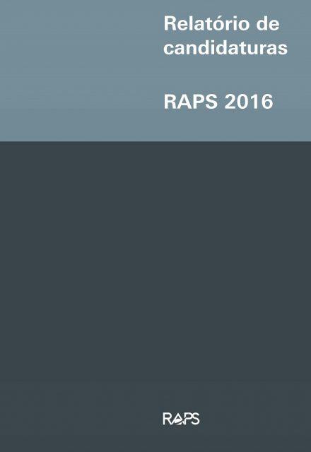 Relatório de candidaturas RAPS 2016